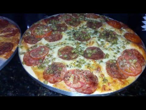 Pizza de liquidificador massa super gostosa thumbnail