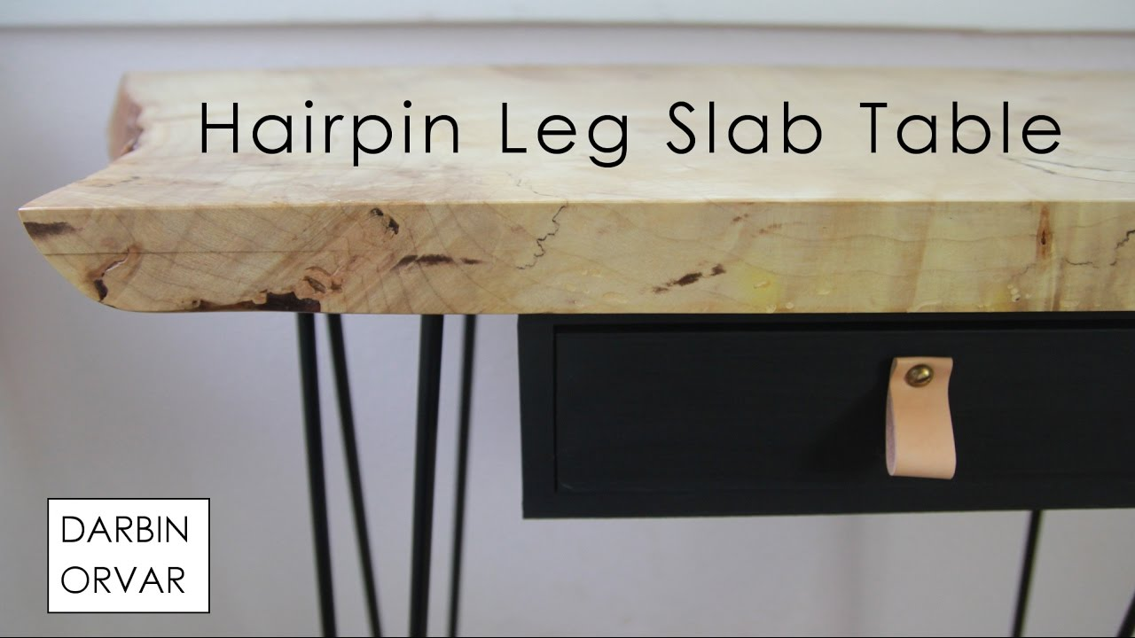 How To Use Hairpin Legs To Make A Table Youtube