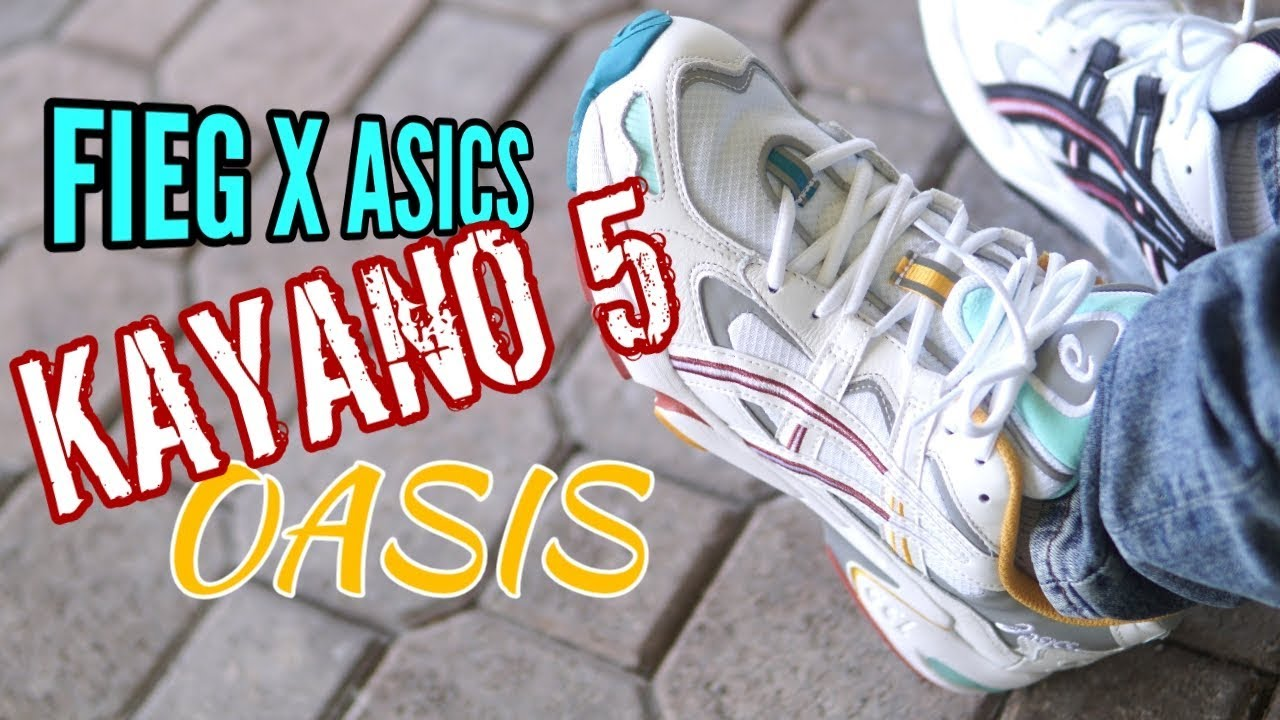 Incompatibile neve Impegnato  ASICS GEL KAYANO 5 RONNIE FIEG KITH OASIS - On Feet Review - YouTube