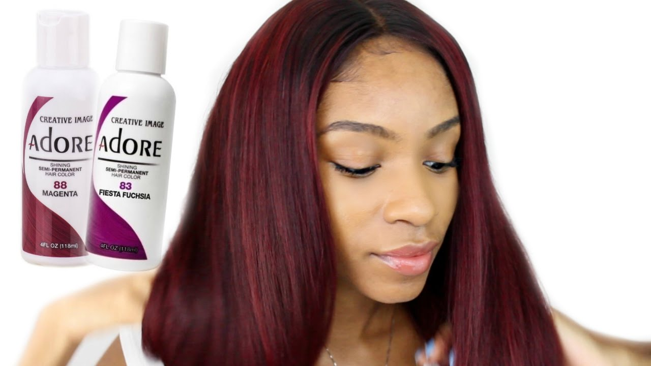How To Dye Virgin Hair Red Burgundy Beauty Forever
