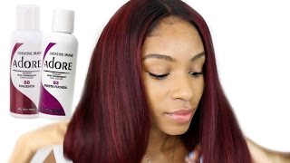 How to Dye Virgin Hair Red/Burgundy► Beauty Forever Brazilian Natural Wave