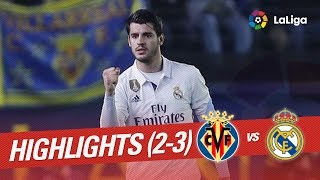 Resumen de Villarreal CF vs Real Madrid (2-3)