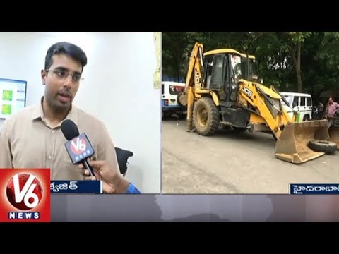 GHMC Enforcement Officer Kampati Viswajith Face To Face Over Encroachments In Hyd | V6 News