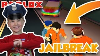 Arresting All The Criminals For Robbing The Bank ! | JAILBREAK PRISON GAME IN ROBLOX !