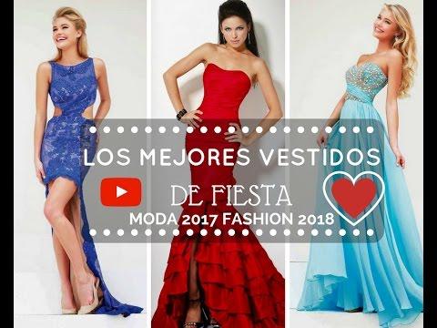 Vestidos elegantes de noche de moda 2018
