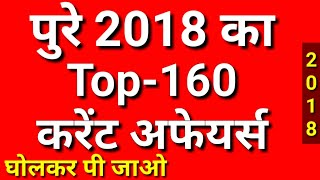Last 9 Month Top-160 Current Affairs 2018 in Hindi | Current Affairs | Current Gk