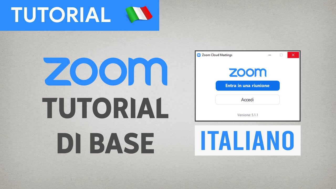 Zoom Meeting | VIDEO TUTORIAL DI BASE (Italiano - Luglio 2020)