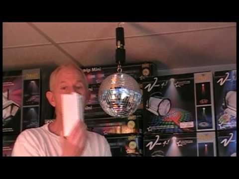 Battery Operated Disco Mirror Ball Dc Motor Youtube