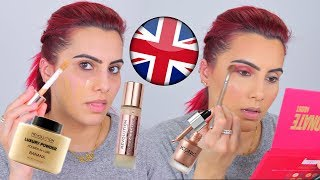 FULL FACE USING MAKEUP FROM U.K BRANDS | BodmonZaid