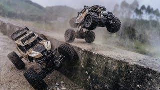 RC Truck Racing - Big Truck Vs Small Truck In Terrain Roads - RC Plus