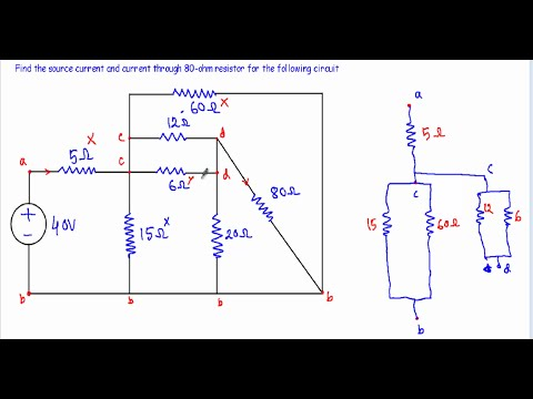 current and voltage in complex series parallel circuit 2 w rh youtube com