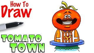 How to Draw Tomato Town Statue | Fortnite