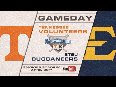 ETSU Baseball vs University of Tennessee at Smokies Stadium  4/26/2017