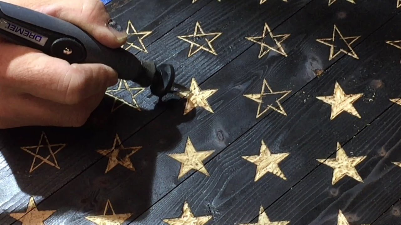 Distressed American Flag Stencil