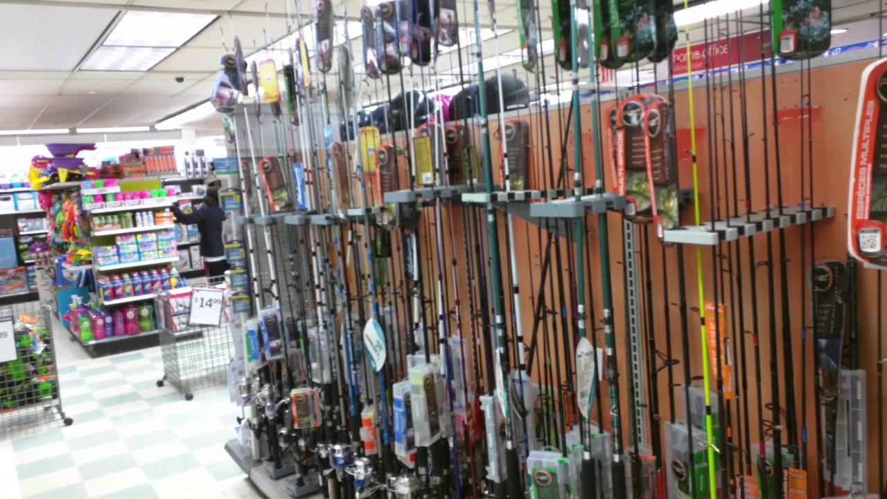 Fishing rods in walmart youtube for Fishing license walmart