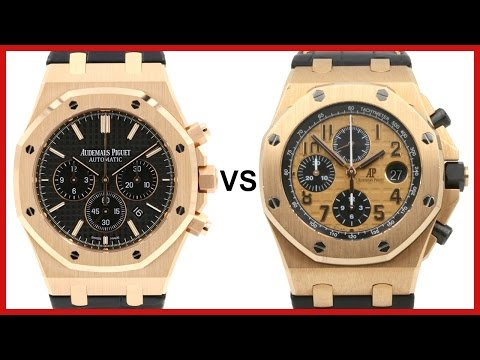 ▶ Audemars Piguet Royal Oak Chronograph vs. AP Royal Oak Offshore - COMPARISON