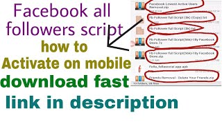 all facebook followers script activate on mobile only 2018 | by Facebook tech