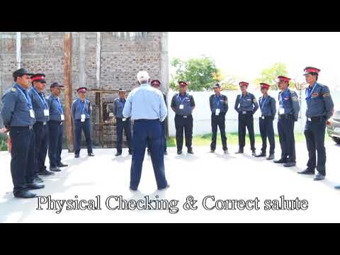 Security Guard Training -- Immediate Security ( Physical checking & Correct Salute )