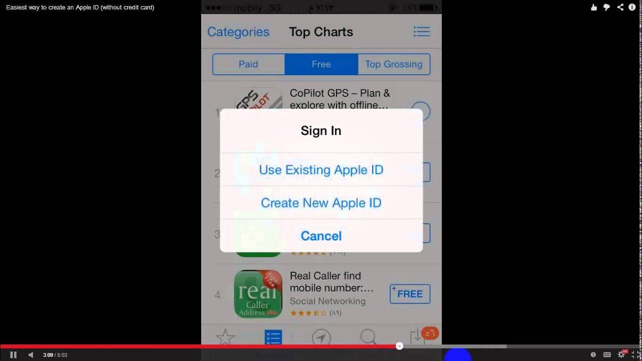 how to create iphone id