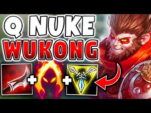 WTF IS THIS NEW Q DAMAGE!?! WUKONG CAN NOW ONE-SHOT ANYONE WITH Q! (2000+ DAMAGE) League of Legends