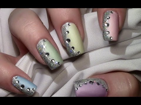simple colorful pastel nail art
