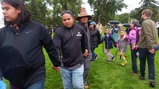 Water Protectors doing Eel Dance at #nodapl rally in Bismarck, ND- 09.09.16