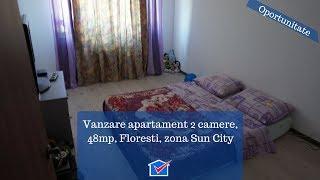 Vanzare apartament 2 camere, 48mp, Floresti, zona Sun City