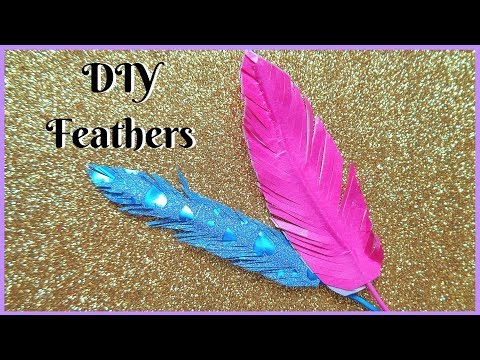 How to make Artificial Feathers at home easily | DIY Artificial Feathers | MissCreatastic