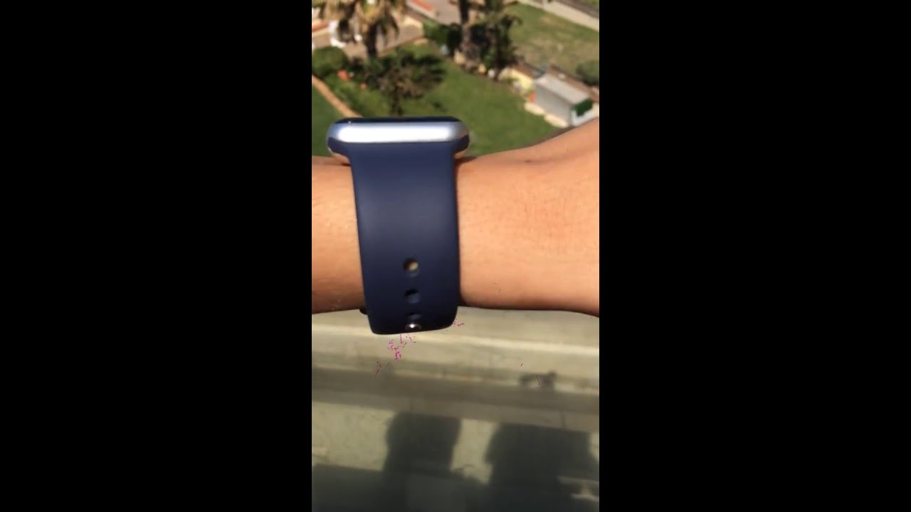 Silver Apple Watch With Midnight Blue Sport Band Youtube 2 Series 1 38mm Gold Aluminium