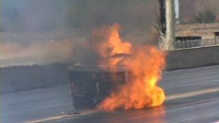 Very SCARY Crash, Throttle Sticks +FIRE