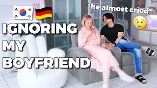 🇰🇷🇩🇪 Ignoring My Boyfriend PRANK *he almost cried* | Korean German Couple 국제커플