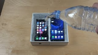iphone 7 vs samsung galaxy s7 water freeze test 10 hours what will happen