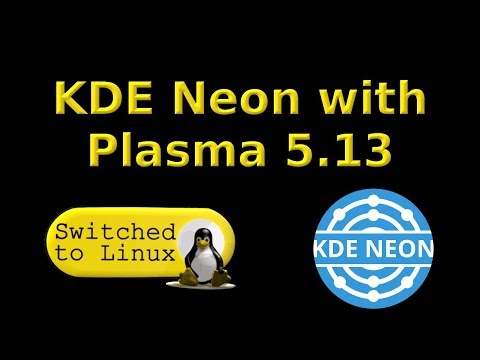 KDE Neon with Plasma 5.13