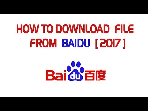 Download file from baidu 2017 (plan a)