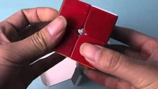 moyu lingpo 2x2 magic cube puzzle cube sticker less unboxing