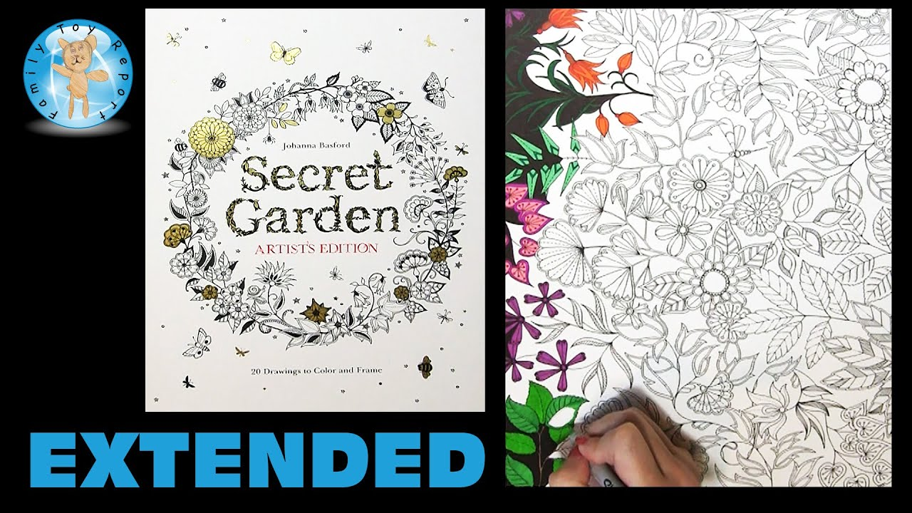 Secret Garden Artists Edition Johanna Basford Coloring Book Dragonfly Extended Family Toy Report