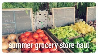 grocery store haul | summer food shop