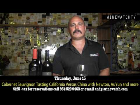 Cabernet Sauvignon Tasting California Versus China with Newton, AuYun and more - click image for video