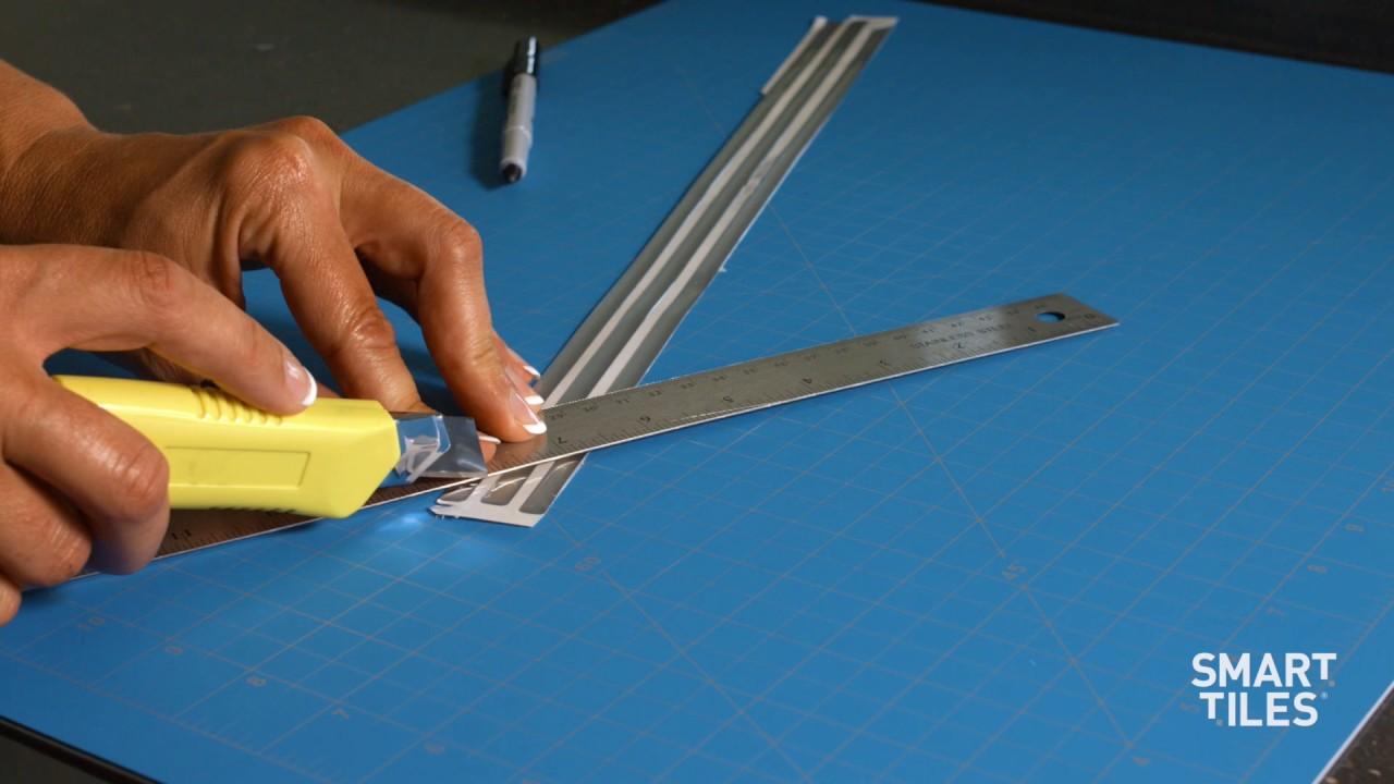 How to install Smart Tiles Finishing Edge - Smart Edge - YouTube