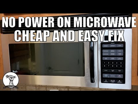 easy fix microwave won t turn on no power on microwave