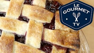 Cherry Pie With Lattice Top Recipe - Legourmettv