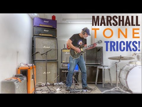 How to get a BIG yet CUTTING classic MARSHALL GUITAR TONE!