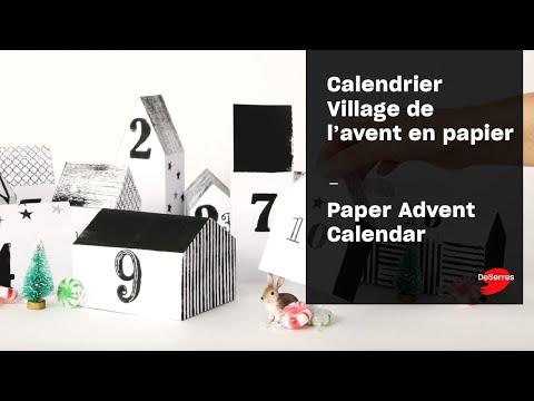 Calendrier Village de l'avent en papier / Paper Advent Calendar
