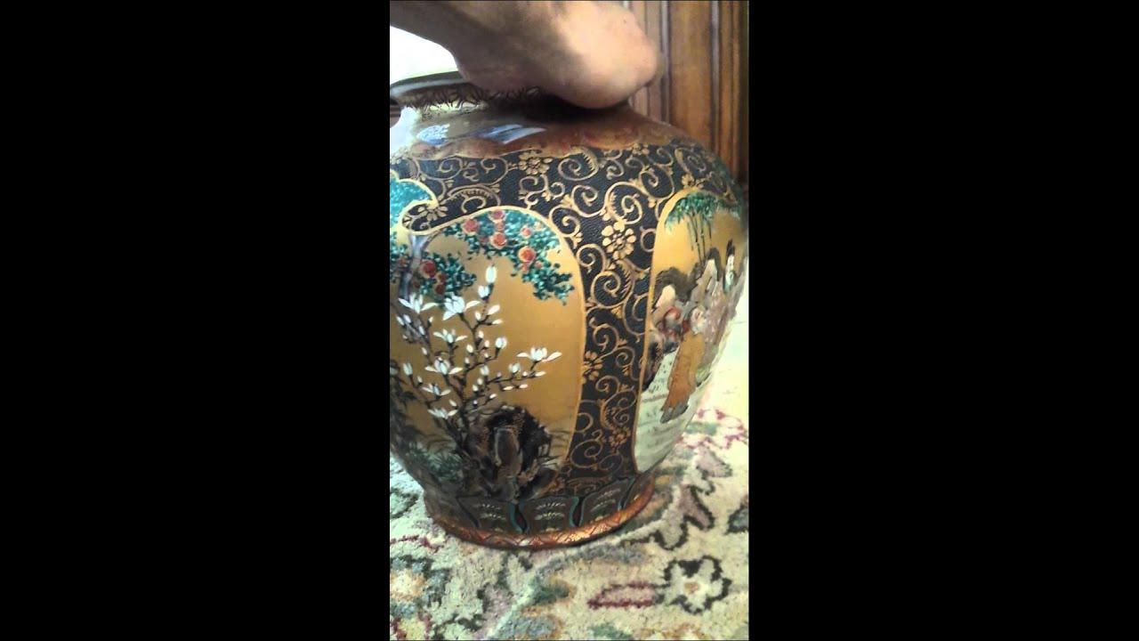 Gorgeous Satsuma Vase How Old Value Youtube