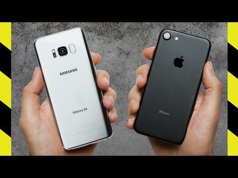 Galaxy S8 vs. iPhone 7 Drop Test!