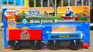 2015 Thomas Wooden Railway Dino Fossil Discovery 2-pack Toy Train Review By Mattel Fisher Price