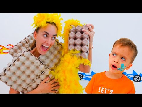 Niki Makes New Dresses For Mom