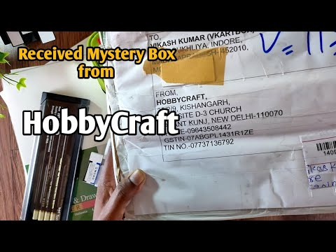 Received a Mystery box from Hobbycraft worth of Rs *****