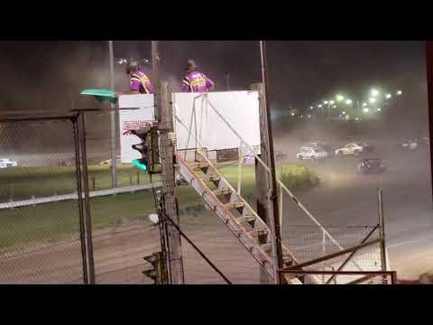 8-12-18 Dawson County Raceway IMCA Stock Car Main Event