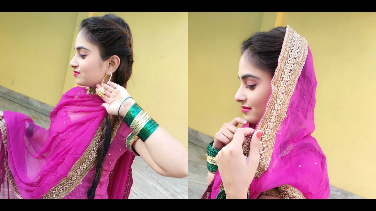 Mehndi Hairstyles With Paranda : Makeup like a punjaban look 2 youtube